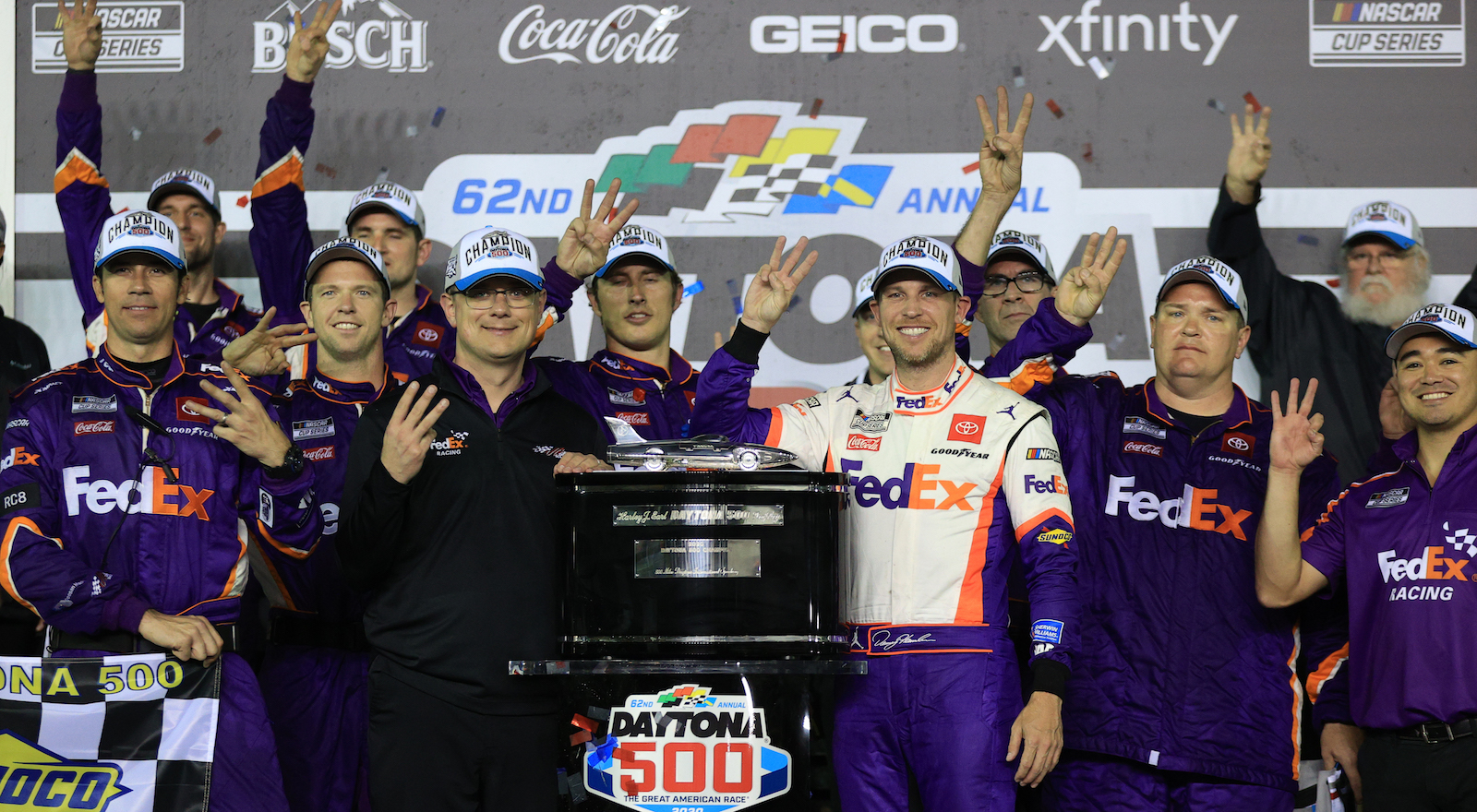 Hamlin wins 3rd Daytona 500; Newman hospitalized 'in serious condition'