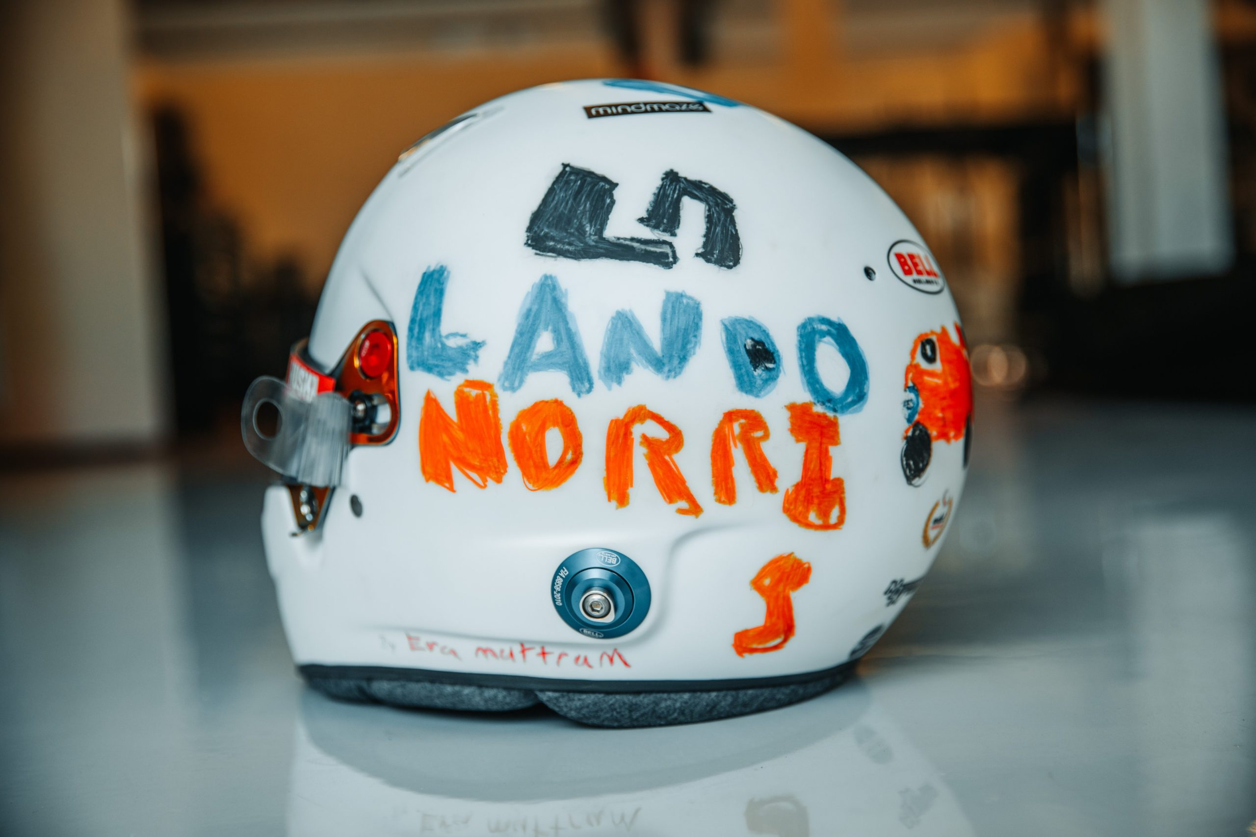 Norris to use helmet designed by six-year-old
