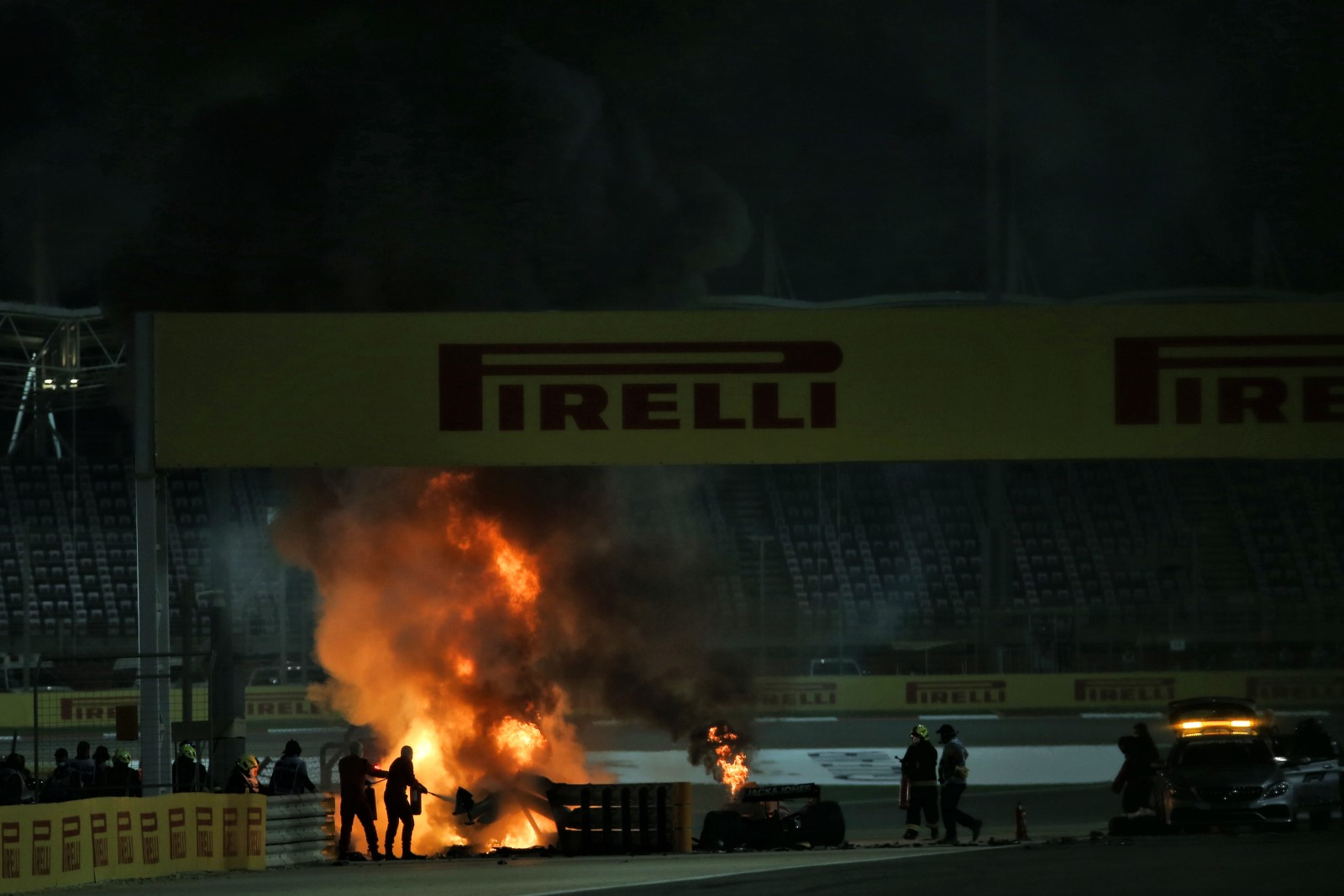Romain Grosjean out of next race after escaping fiery crash